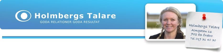 Jag samarbetar med Holmbergs Talare!
